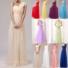 New One-Shoulder Long Bridesmaid/Prom Dress Evening Gowns 12-Colour Size 6-26