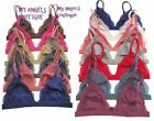 SHEER LACE TRIANGLE BRALETTE  BRA BUSTIER CROP TOP UN-PADDED,  MESH    S/M, M/L