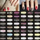 16pcs Crystal Nail Art Foils Patch Stickers Adhesive Decals Manicure Tip Wrap