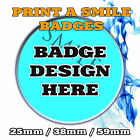 CUSTOM 25mm BADGES BAND SMALL HEN CHARITY PROMOTIONAL PRODUCT DESIGN YOUR OWN