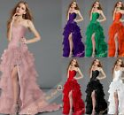 Sexy New Ice Yarn Split Long Prom Evening Bridesmaid Dress Party Gowns size 6-16