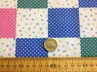 Baby Nursery PATCHWORK Pink Blue Green POLY COTTON FABRIC bunting