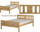 RIO (3FT) Single OR (4'6) Double DISTRESSED WAXED PINE Bed Frame