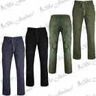 Mens Cotton New Cargo Utility Work Wear Combat Casual Long Bottom Trousers Pants