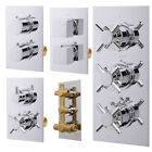 Concealed Thermostatic Chrome Bath Shower Mixer Square Round Valve Bathroom Tap