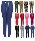CLEARANCE NEW LADIES TRACKSUIT ZIP JOGGING BOTTOMS WOMEN PANTS JOGGERS SIZE 8-14