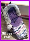 Bugaboo Silver Cross SURF Cameleon Bee Luxury FUR HOOD TRIM Black-White-Pink-