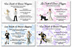 Various Funny Wedding Cake Topper Postcard Personalised Wedding Invitations