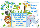 PERSONALISED BIRTHDAY JUNGLE PARTY INVITATIONS FOR TWINS OR A JOINT PARTY !!