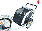 Aosom Baby Trailer 2IN1 Bicycle Stroller Children Seating Travel -3 Models