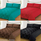 5Pcs Flocked Duvet Quilt Cover With 2 Pillow Cases , Runner & Cushion Cover