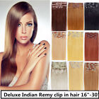 USA STOCK !Full Head 26 inch Indian Remy Human Hair Clip In Extensions 8pcs&160g