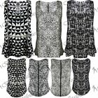 Womens Animal Leopard Print Sleeveless Baggy Zip Ladies Vest T Shirt Tank Top