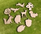 Wooden shapes woodland for crafts, gift tags, blank shapes x10 laser cut outs