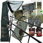 Complete Carp Fishing Set up With Rods Reels Alarms Tackle Hooks Rod Holdall