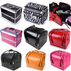 Beauty Vanity makeup Aluminium PU Bags Cosmetic Box Case Nail Polish Storage NEW