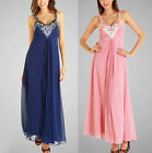 New Beaded Chiffon Formal Evening Bridesmaid Prom Cocktail Party Dress Ball Gown
