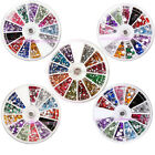 Nail Art Manicure DIY Rhinestones Glitters Acrylic Tips Decoration Wheel Set
