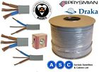ELECTRIC SHOWER CABLE WIRE 10mm TWIN AND EARTH ELECTRIC CABLE 2m 4m 5m 10m 15m