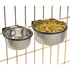 BOLT ON CAGE BOWL Coop Cup,  Clamp Dog Dish for Crate Stainless Steel Pet Bird