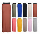 Womens Plus Big Size Long Gypsy Maxi Skirts Ladies Jersey Casual Bodycon Dress
