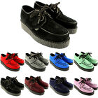 Womens Underground Wulfrun Creepers Lace Up Goth Retro Shoes Suede UK Sizes 3-8