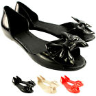 Womens Mel Fresh Bow Slip On Bow Flat Peep Toe Summer Sandal UK Sizes 3-8