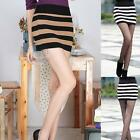 Sz AU 8 10 Sexy Bandeau Stripe Top Stretch Slim Bodycon Bandage Micro Mini Skirt