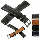 Leather Watch Strap for TAG Heuer Padded Crocodile Grain 22mm by StrapJunkie UK