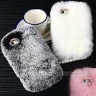 Winter Warm Soft Rabbit Fur Hair For 4S 5S 5C S3 S4 S5 Mini 7100 9000 Iphone6 P6