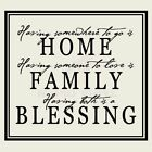 HOME FAMILY BLESSING Wall Decal Wall Sticker Home and Living Wall Art Decal