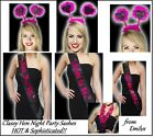 Black Bride to Be Sash Hot Pink Bridesmaid Hen Party Accessories Boppers Lei NEW