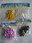 scoobies strings craft plastic beads 4 pack various options shapes & colours
