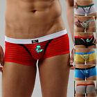 New Mens Sexy Mesh Low Rise Boxer Briefs Stripe Underwear Trunks Soft Shorts