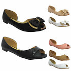 Ladies Cut Out Flat Ballet Pumps Womens Fashion Dolly Ballerina Comfy Shoes Size