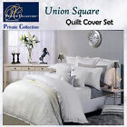 UNION SQUARE Snow Quilt Cover Set by Private Collection - QUEEN KING Super King