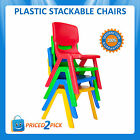 Childrens Kids Toddlers Stackable Table Plastic Chairs Red Blue Green or Yellow