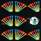 Golf Tees (83mm) Rubber Cushion Plastic Top + 25 Golf Ball Plastic Markers Free