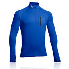 Under Armour Mens ColdGear Thermo Blue Quarter-Zip Long Sleeve Sport Running Top