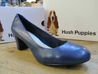 Hush Puppies Imagery Pump Navy Leather Heels Court Shoe Size 5 6 7 8