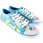 Womens Rocket Dog Amaya Sugar Flower Cotton Blue Plimsoll Lace Up Trainer UK 3-8