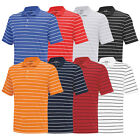 New Adidas PureMotion 2-Color Stripe Jersey Polo - Multiple Sizes & Colors