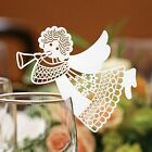 Angel Name Place Cards For Wine Glass. Laser Cut On Luxury Pearlescent Card