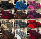 Quilted Bedspread or Duvet Cover LISA Damask Flock Print+Pillow Sham Double King