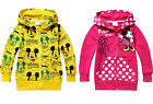 Mickey Mouse & Minnie Mouse Kids Boys Girls Zip Hoodies Coat Clothing 2-8 Years