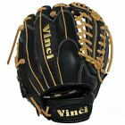Vinci Pro 22 Series Mesh Back JC3333-22 Baseball Glove Black with Tan Welting an