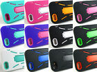 Apple iPhone 5 Only +Pry Tool Heavy Duty Dual Layer Hybrid Case Kickstand Cover