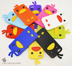 for Apple iPhone 5 5s Adorable Duck Soft Silicone Case+PryTool Package Cover Gel