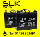 PAIR (12v) 12ah 17 24 33 36 40 50 55 75AH MOBILITY SCOOTER WHEELCHAIR BATTERIES