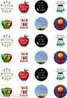 24x PRECUT THANK YOU TEACHER RICE/WAFER PAPER CUP CAKE TOPPERS